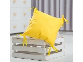 Samostatný polštář - polštářový mantinel 30x30cm-žlutá