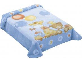 Španělská deka 546 - modrá, 80 x 110 cm