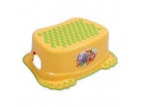 Dětské protiskluzové stupátko do koupelny žluté tlapky