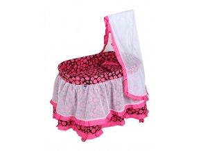 Košík pro panenky PlayTo Nikolka růžový