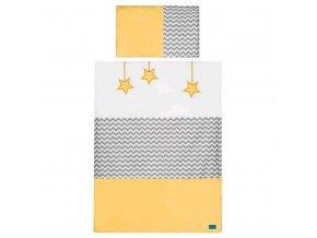 5-dílné ložní povlečení Belisima Hvězdička 100/135 žluté