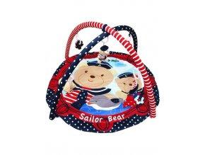 Hrací deka Baby Mix medvídci námořníci