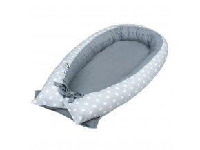 Hnízdečko pro miminko New Baby šedé s puntíky