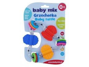 Dětské chrastítko Baby Mix barevný trojuhelník