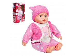 Slovensky mluvící a zpívající dětská panenka PlayTo Marika 46 cm