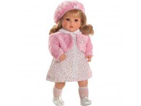 Luxusní mluvící dětská panenka-holčička Berbesa Angelica 45cm