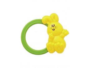 Dětské chrastítko Baby Mix zajíček žlutý