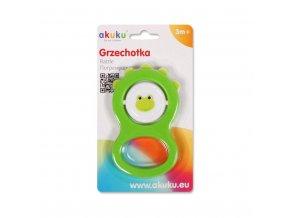 Dětské chrastítko Akuku zelené