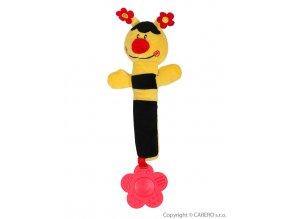 Plyšová pískací hračka s kousátkem Baby Ono beruška žlutá