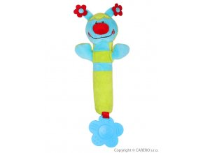 Plyšová pískací hračka s kousátkem Baby Ono beruška zelená