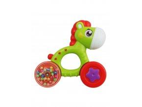 Dětské chrastítko Baby Mix koník zelený