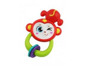 Dětské chrastítko Baby Mix mrkací opička