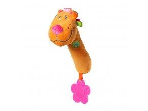 Plyšová pískací hračka s kousátkem Baby Ono lev