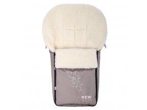 Luxusní fusák s ovčím rounem New Baby béžový