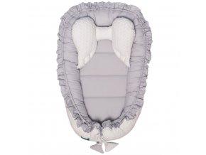 Luxusní hnízdečko pro miminko Belisima Králíček bílo-šedé