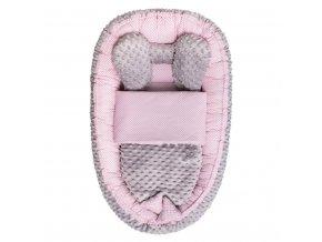 Hnízdečko s peřinkou pro miminko Minky Sweet Baby Belisima růžové