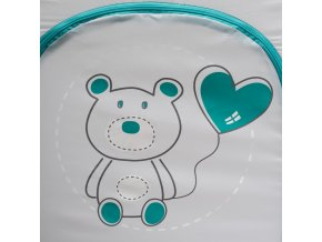 Dětská cestovní postýlka Baby Mix Medvídek grey