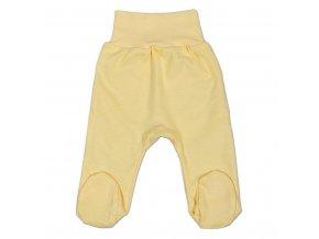 Kojenecké polodupačky New Baby žluté 80