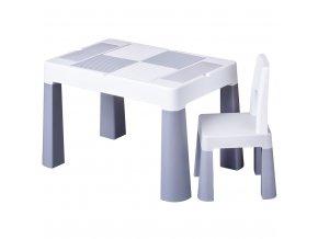 Dětská sada stoleček a židlička Multifun grey
