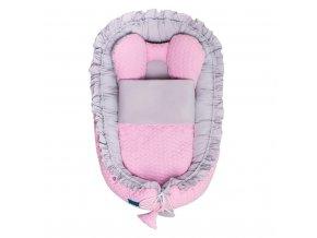 Luxusní hnízdečko s peřinkou pro miminko Belisima Králíček růžové