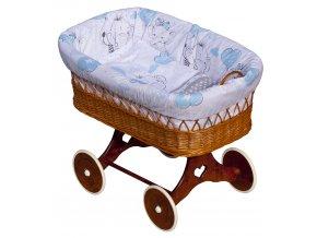 Proutěný koš na miminko - Scarlett Gusto  - modrá