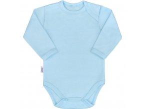 Kojenecké body s dlouhým rukávem New Baby Pastel modré 62