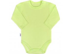 Kojenecké body s dlouhým rukávem New Baby Pastel zelené 62