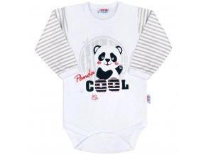 Kojenecké body s dlouhým rukávem New Baby Panda 80
