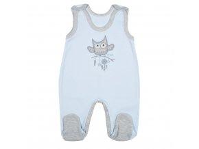 Kojenecké dupačky New Baby Owl modré 56
