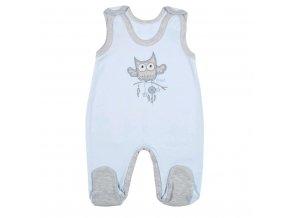 Kojenecké dupačky New Baby Owl modré 86