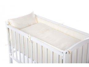 Baby postýlka k posteli rodičů BABY s výbavou - bílá 90 x 41 cm