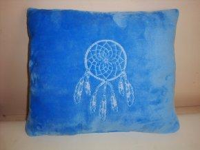 Polštář lapač snů - modrá