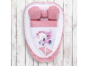 Hnízdečko s peřinkou pro miminko Minky Belisima Unicorn