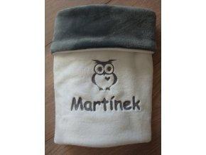 Dětská deka s výšivkou obrázku a jméno na přání