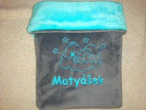 Dětská deka s medvídkem na mráčku Matyášek