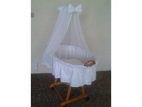 Košík pro miminko II -bílý šifon  poštovné ZDARMA
