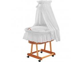 Košík na miminko bílý - madeira