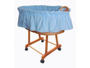 Košík na miminko II bez nebes - světle modrý