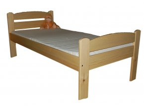 Masivní postel VANESSA s vyšším čelem , borovice