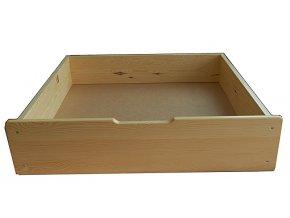 Šuplík pod postel - masiv borovice
