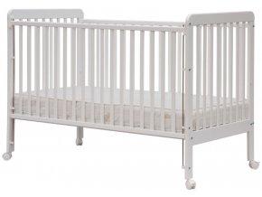 Dětská rostoucí postýlka se stahovacím bokem - Scarlett ALEXANDRA - (buk) - bílá 140 x 70 cm