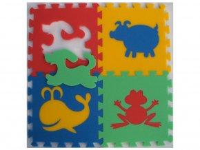 Pěnový koberec 8mm, 4díly - zvířátka 1
