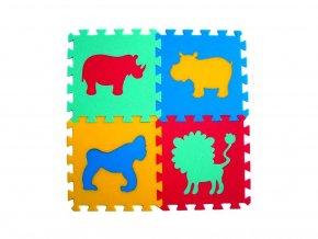 Pěnový koberec 8mm, 4díly - zvířátka 2