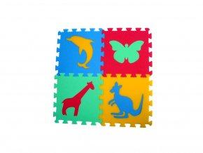 Pěnový koberec 8mm, 4díly - zvířátka 3