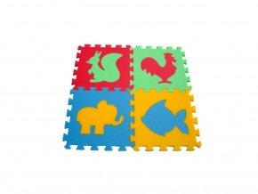 Pěnový koberec 8mm, 4díly - zvířátka 6