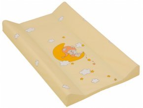 Přebalovací podložka s pevnou vložkou 80 x 50 cm - žlutá