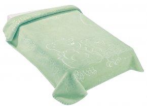 Španělská deka 518 - zelená, 80 x 110 cm