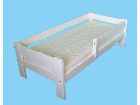 postel se zabranou bílá