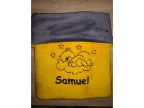 Dětská deka se jménem a obrázkem na přání