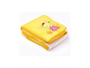 Dětská deka Sensillo 3D Sladký medvídek 75x100 cm yellow